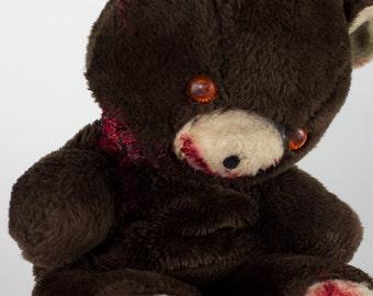Creepy Teddy Bear Edmund Haunted Stuffed Animal Plush