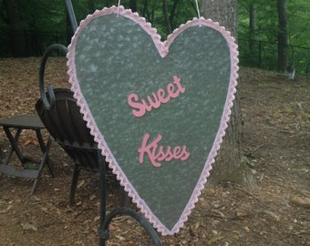 Heart Magnet - Sweet Love - Pink