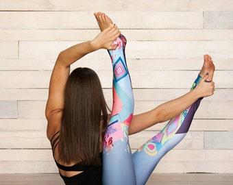 OCEAN - YOGA FITNESS leggings, sportswear, activewear, yoga, gym, fitness leggings, yoga clothes, workout, woman, sports, running