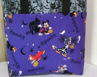 Halloween Childrens Disney Mickey Mouse and Minni Mouse Halloween Trick or Treat Bag Halloween Tote Mickey Minni Ladies Halloween Tote