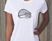 Hedgehog, Hedgehog shirt, Womens tees, Womens tshirts, Hipster animals, Animal Shirt, Funny shirt, Animal Print, Hedgie