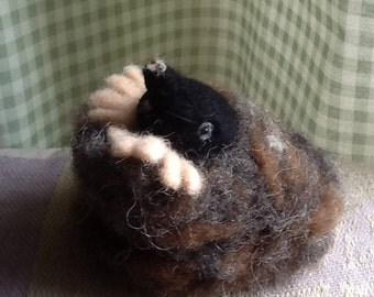 Needle felted mole