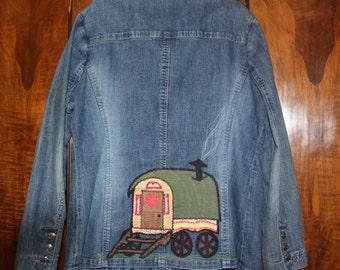 Gypsy Wagon patchwork denim coat