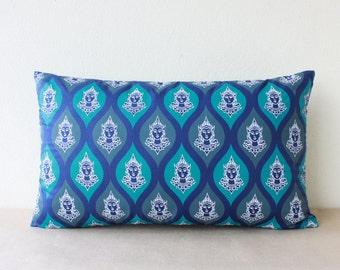 "SALE!!! 15% Off - 12"" x 20"" Decorative Pillowcase, Pillow Cover in Unique Thai Angle's Face Screen Print"