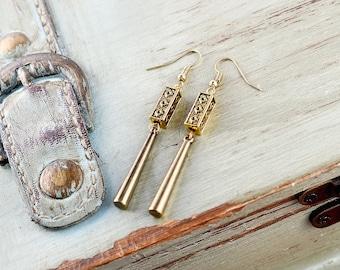 Gold Boho Earrings, Gold Ethnic Earrings, Gold Modern Earrings, Gold Tribal Earrings, Gold Egyptian Earrings, Gold Bohemian Earrings