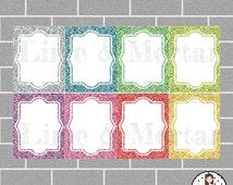 Glitter Box | Erin Condren Planner Square Stickers
