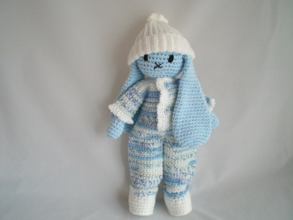 Amigurumi Bunny In Dress : Crochet Bunny Rabbit / Crochet Amigurumi Dress up Bunny