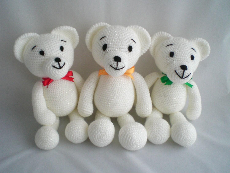 Amigurumi Teddy Bears : Crochet Teddy Bear / Amigurumi Teddy Bear / Small Ultra Soft