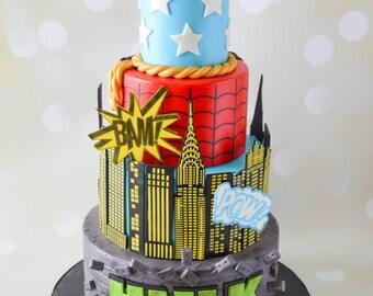 Captain America Cake Toppers Avengers cake Super Heroes