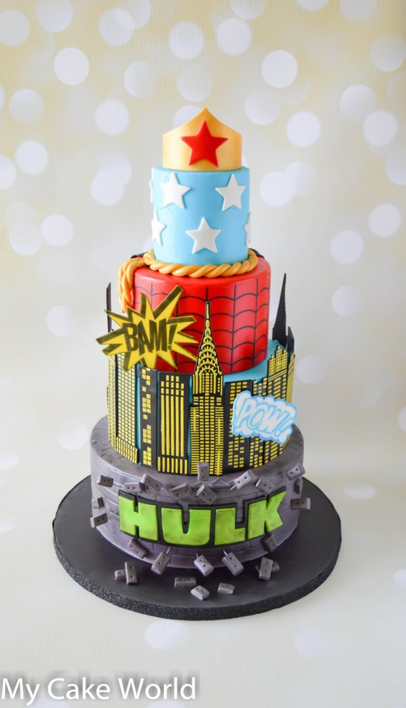Cake Decor Group : Super Hero Cake Decorations Set Super Hero cake toppers Super