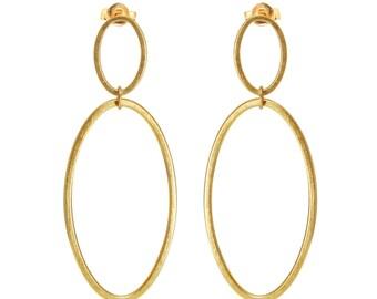 GP Cadence Double Hoop Drop Earrings