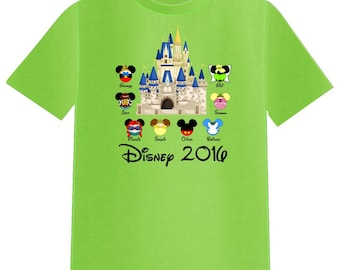 Disney Shirt CASTLE with FAVORITE CHARACTER Disney Vacation Group Shirts