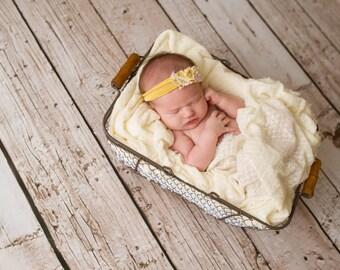 Newborn Photography Prop Headband {Honey}