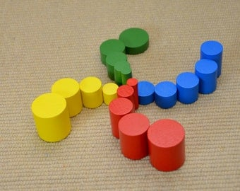 Montessori knobless cylinders set
