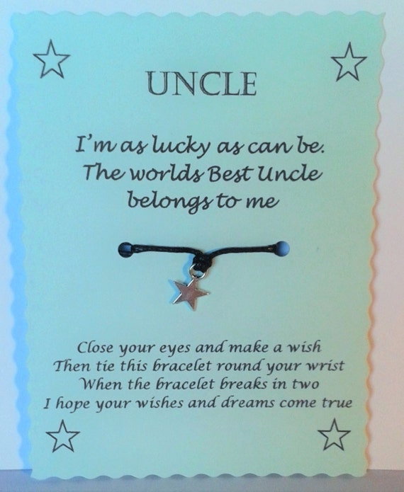 Baby Gift Ideas From Uncle : Uncle gift wish bracelet birthday