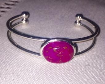 Tonya Style - Adjustable Cuff Bracelet - Crushed Flowers - Memorial Keepsakes - Funeral Flowers - Remembrance Jewelry - Keepsake Jewelry