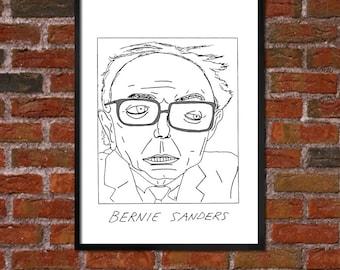 Badly Drawn Bernie Sanders - Politics Poster