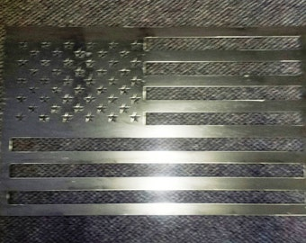 "Metal 18""H United States American Flag for the Patriotic to Honor our Country"