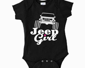On Sale - Jeep Girl onesie or toddler tshirt