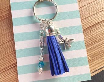 Fringe Tassel Butterfly Charm Gift| Tassel Key Charm | Butterfly charm | Thank You GIft | OOAK | Luggage Backpack Keychain | Teacher Thanks