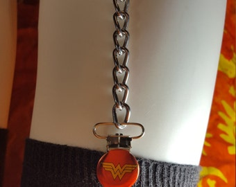 Wonder Woman Sock Garters, Garter Strap, Chain Garter straps, Garter clips, Super Hero, Goth, Punk, Thighhighs