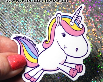 Unicorn Stickers/Decals - Indoor or Outdoor - Cars, laptops, notebooks, drink ware & more.