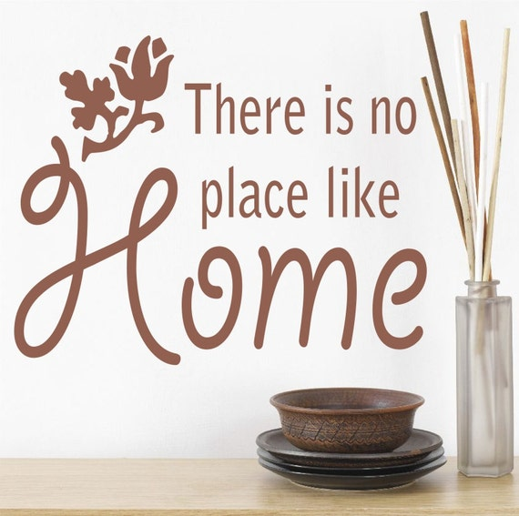 there is no place like home wall art sticker quote kitchen. Black Bedroom Furniture Sets. Home Design Ideas