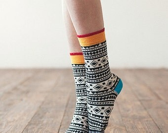 Chamanes socks, fun colorful socks  for women, casual socks, patterned women socks. Free delivery!