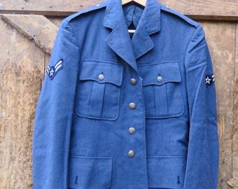 US Airforce Bleu Jacket Pure Wool size 36R