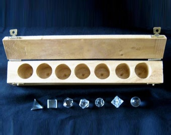 Platonic Solids 7-piece shaped quartz healing crystal sacred geometry set