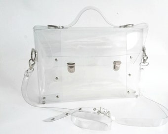 Crossbody bag NFL Clear See Through Plastic Vinyl