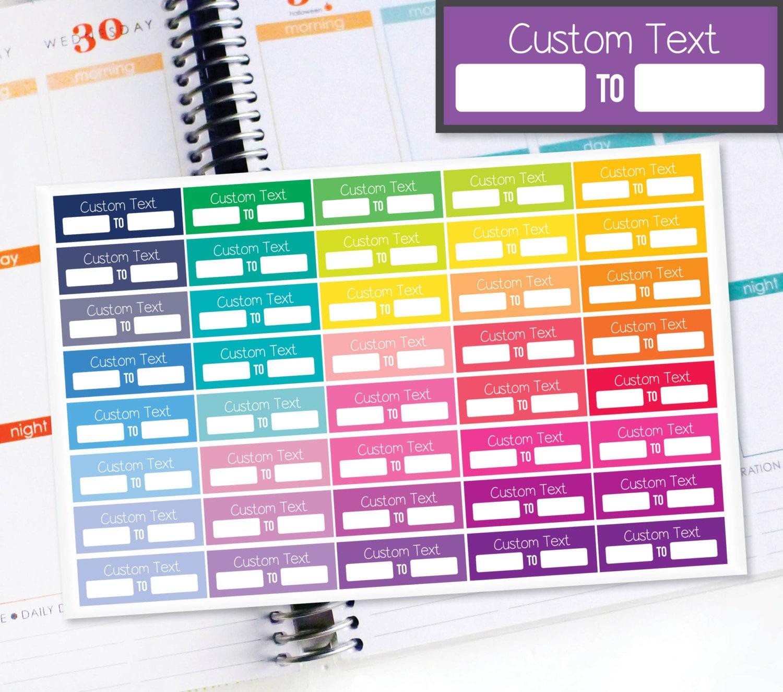 Planner stickers erin condren life planner eclp 40 custom for Custom photo planner