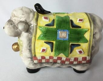 SALE / Adorable GANZ Ceramic Sheep Bank
