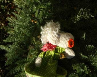 little sheep (cone puppet)
