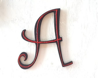 Alphabet - EXAMPLE - Curly Q Font - Letters - Name - Capitals - Lowercase