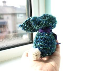 Small Bunny Rabbit Plushie Blue/Green