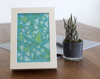 Paper Art: Hand-cut Geometric Pattern from Cardstock