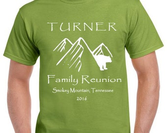 Mountains, Tennessee, Smokey Mountains, Pigeon Forge, Family Reunion, custom family reunion t-shirts, family vacation, clothing