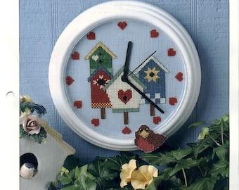 Birdhouse Clock Plastic Canvas Pattern