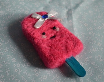 Kawaii Pink Ice Lolly Keyring