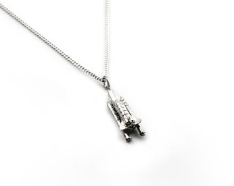 Sterling Silver Space Shuttle Necklace