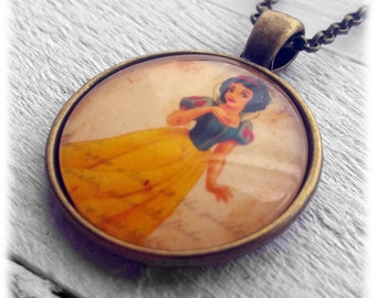 Snow White Pendant and Necklace