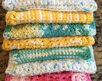 Crocheted Kitchen Dishcloths