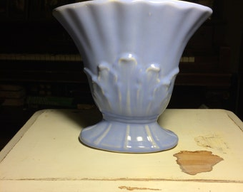 Periwinkle Fan Vase Ceramic