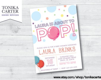 About to Pop Baby Shower Invitation