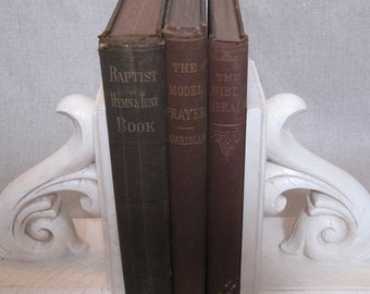 Antique Christian Book Bundle, Decorative Book Set