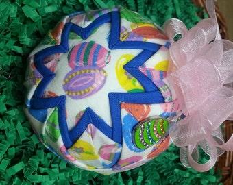 "Easter Handmade Quilted Keepsake Ornament ""Eggspiration"""