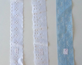 "2""+ Flat Lace and Eyelet"