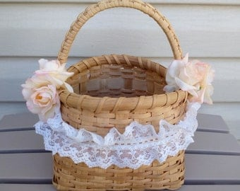 Wedding Basket, Flower Girl Basket, Wedding Accesory, Affordable Baskets