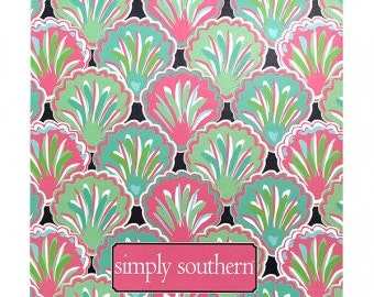 SALE * Monogrammed Large Chacha Notebook by Simply Southern / Personalized Simply Southern Notebook Binder / Preppy Binder / Journal